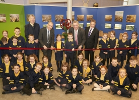 Pupils from St Michaels help to open Mersey Gateway visitor centre – February 2015