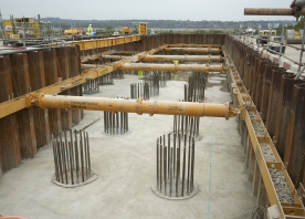 Abutment of north approach viaduct – April 2015