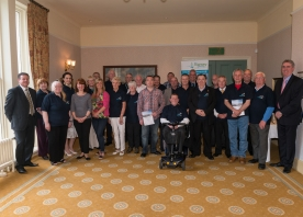 Our volunteers at Runcorn Town Hall presentation evening – May 2015
