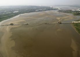Aerial view of Mersey Gateway – April 2015