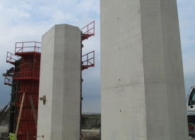 Progress on columns of pier 15 of the Astmoor Bridgewater Viaduct – July 2015
