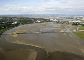 Aerial view of the Mersey Gateway – July 2015