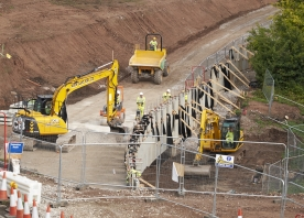 M56 Junction 12 retaining wall – August 2015