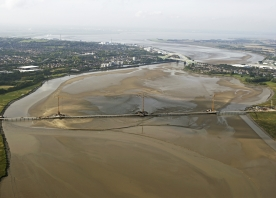 Aerial view of the Mersey Gateway – September 2015