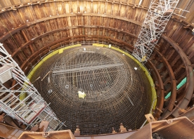 Reinforcement for the base of the central pylon – October 2015