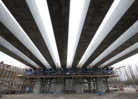 Deck beams at Ditton Junction – December 2015