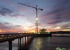 Sunrise over the Mersey Gateway – December 2015