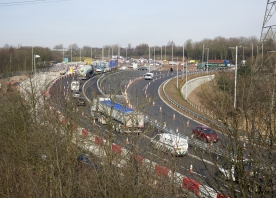 M56 Junction 12 roundabout – March 2016