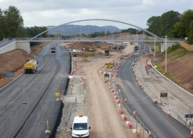 Lodge Lane North Footbridge over the Central Expressway – August 2016