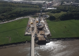 View from the south pylon towards Runcorn – September 2016