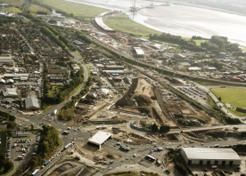 The Mersey Gateway project route across Widnes – October 2016