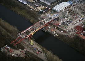 MSS Webster over the Manchester Ship Canal – December 2016