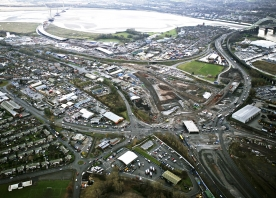 Mersey Gateway route over Widnes – December 2016