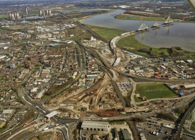 Mersey Gateway route over Widnes – March 2017