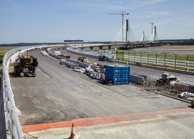 Mersey Gateway Bridge from the North Approach Viaduct – 2017