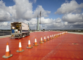Surface Preparations on the South Approach Viaduct – August 2017