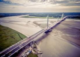 Aerial Drone Footage of The Mersey Gateway Bridge – August 2017