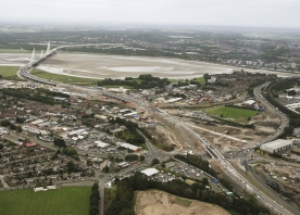 North Approach to the Mersey Gateway Bridge – August 2017