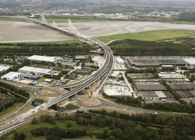 South Approach to the Mersey Gateway Bridge – August 2017