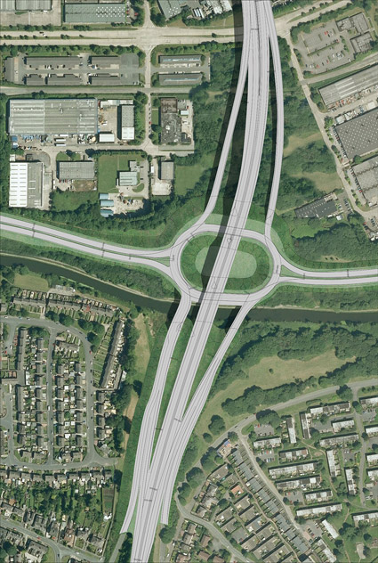 The current approved design for Bridgewater Junction