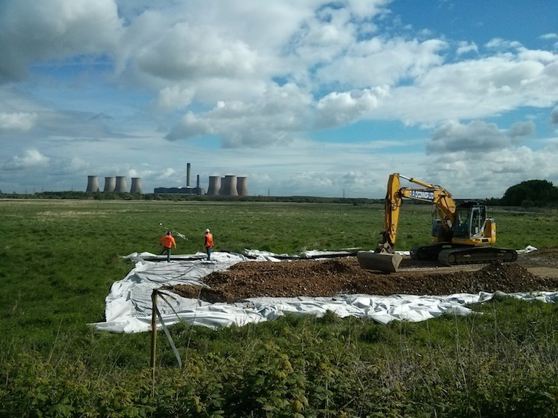Mersey Gateway start on site - the view - 7 May 2013