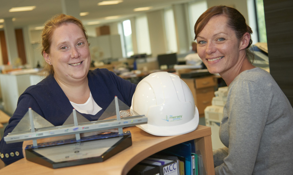 Merseylink apprentices Rebecca Cooke and Lyndsey Carlile