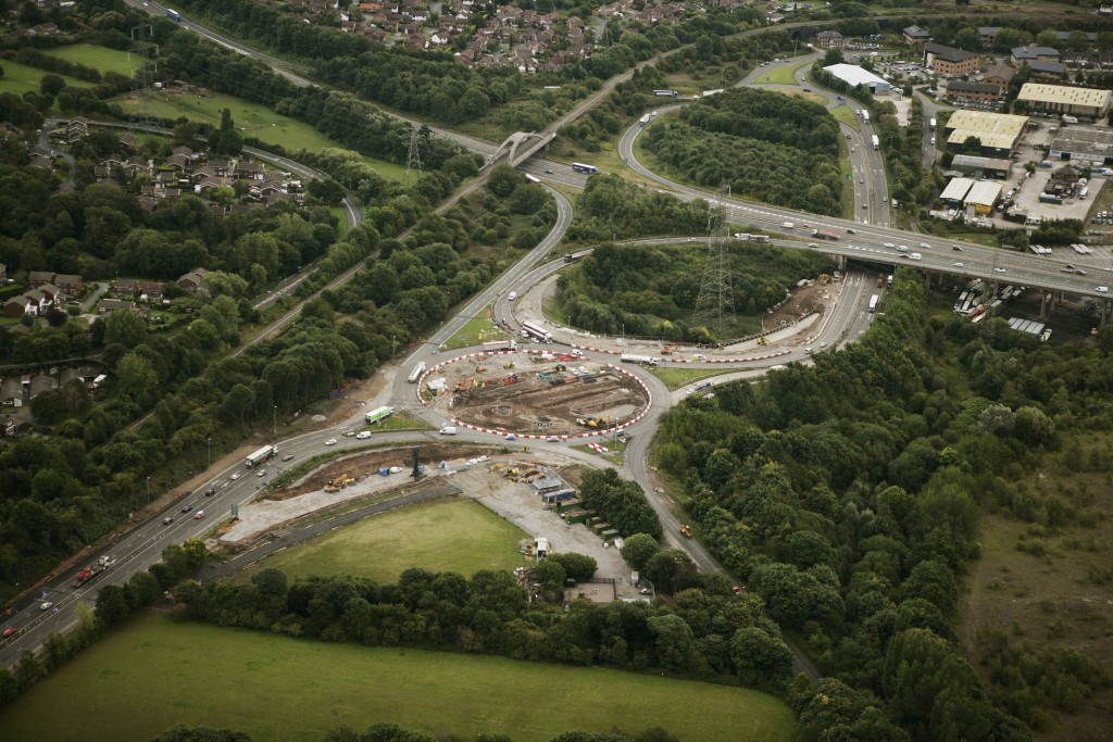 The eastbound slip road at junction 12 of the M56 will close for around 5 weeks from 12 October 2015