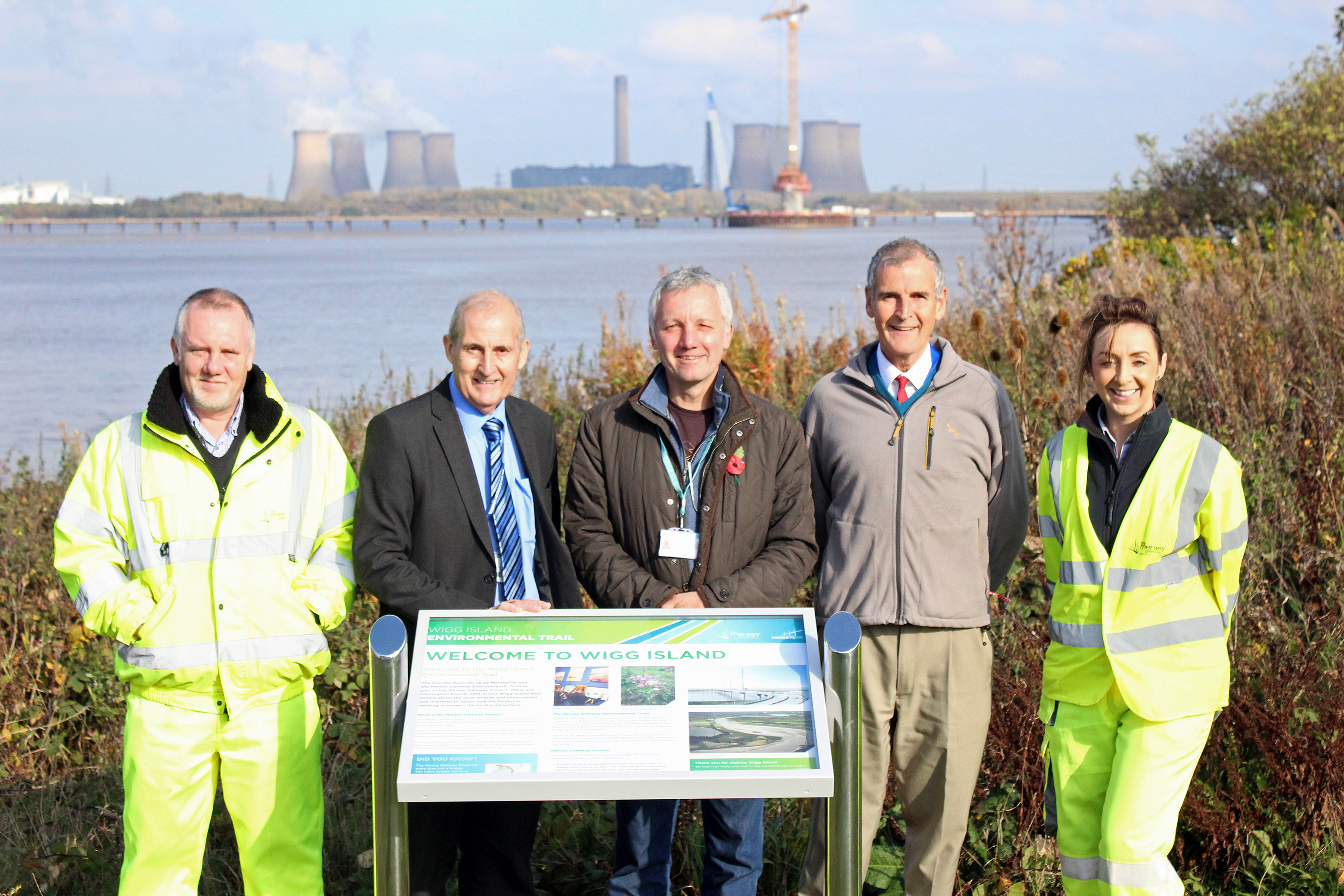 The team at the start of the Wigg Island Environmental Trail