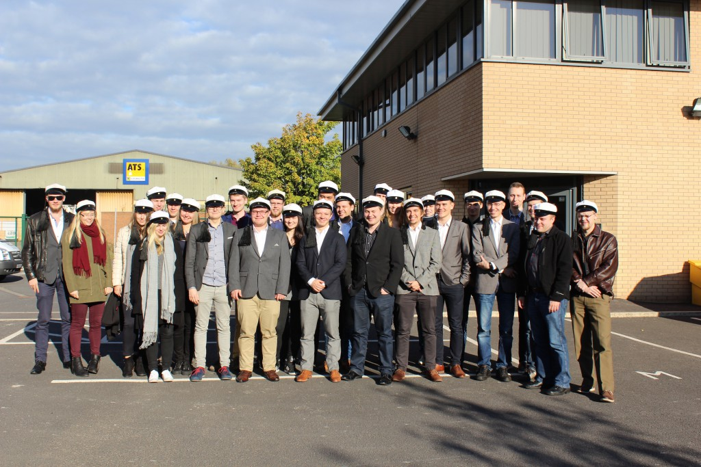 Finnish engineering students from Aalto University in Helsinki pictured during a visit to the Mersey Gateway Project in Halton.