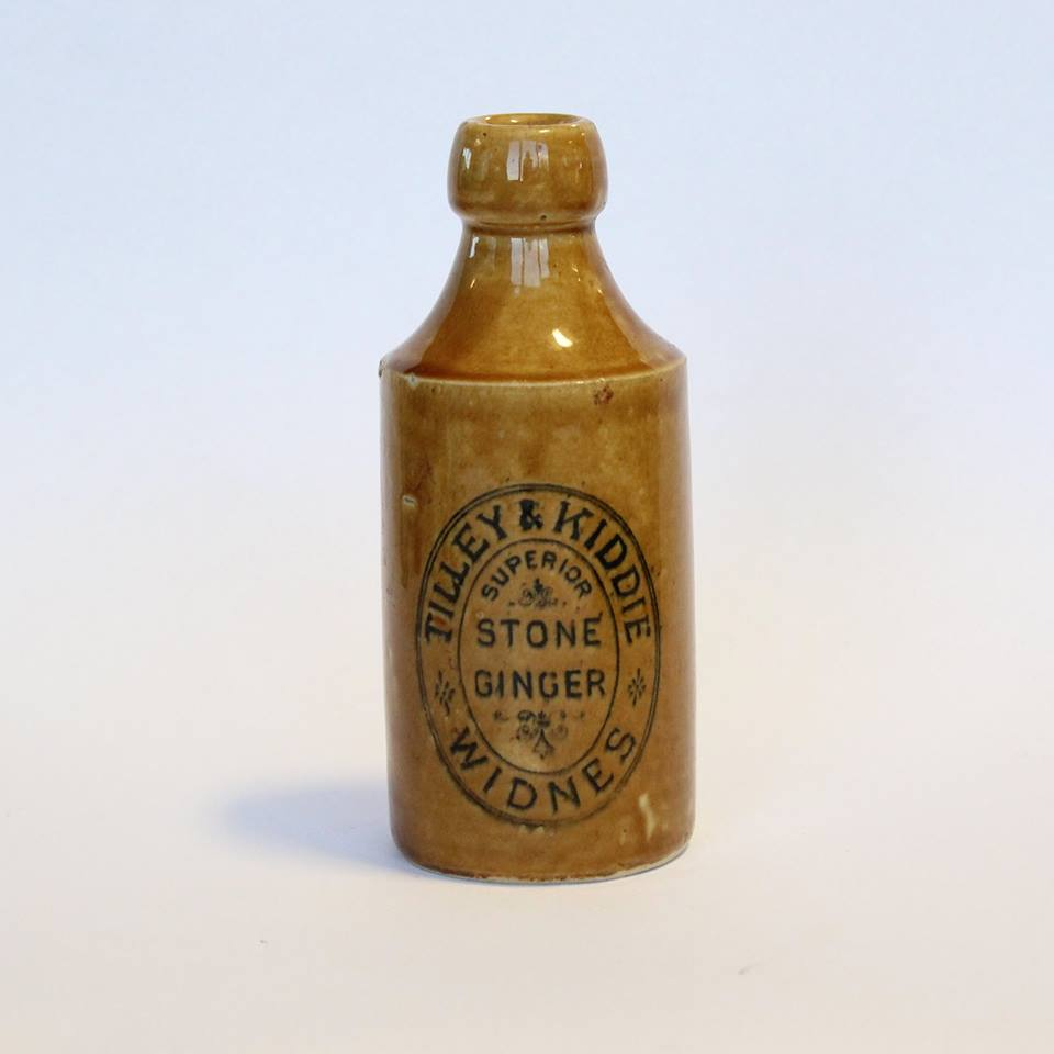 One of the historic bottles found during Mersey Gateway construction works