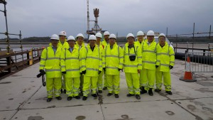 Shanghai delegation on Mersey Gateway Project site
